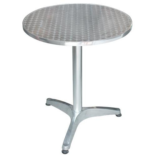 Round folding aluminium table 60cm