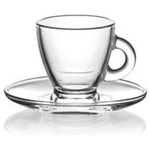 Glass tea cup with saucer 95ml