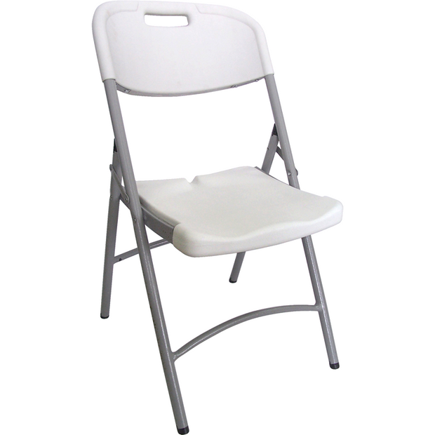 Folding white catering chair 88cm