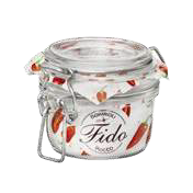 Glass jar with clips 125ml