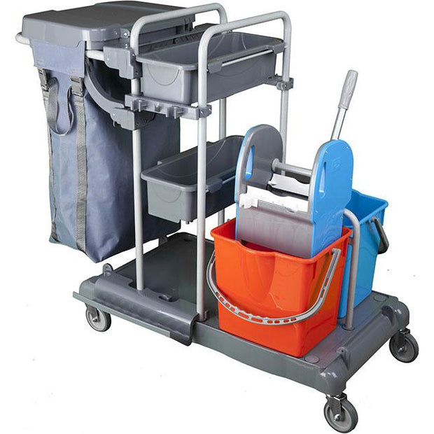 Professional multifunctional janitor trolley