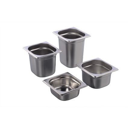 Stainless steel gastro container 1/6 GN height 150mm