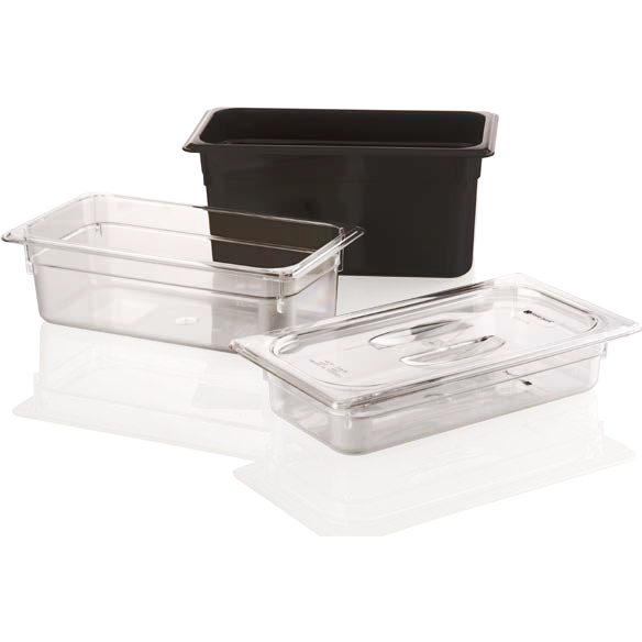 Polycarbonate gastronorm storage container GN 1/3 black 2.4 litres