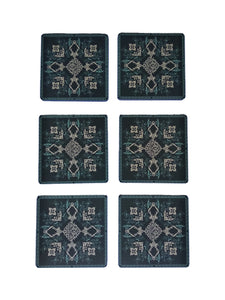 Crayton Square Green Mughal Art MDF Coaster