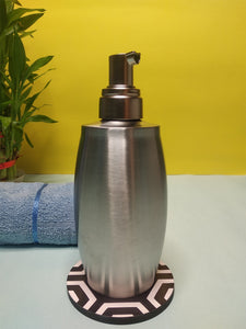 Crayton Stainless Steel Oval Shaped Liquid Soap/Lotion Dispenser