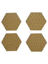 Load image into Gallery viewer, Crayton Hexagon Yellow Geometric MDF Coaster