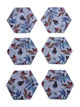 Load image into Gallery viewer, Crayton Hexagon Bird Floral MDF Coaster