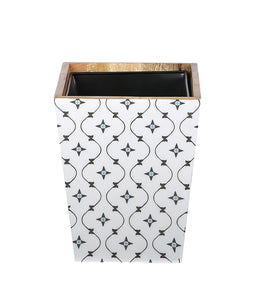 Crayton Star Mango Wood Dustbin with Metal Inner