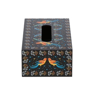 Crayton Birds Closed MDF Big Tissue Paper Box Holder