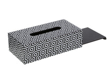 Load image into Gallery viewer, Crayton Black & White Closed MDF Big Tissue Paper Box Holder