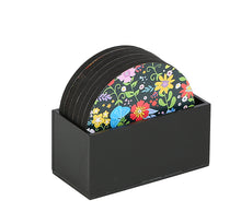 Load image into Gallery viewer, Crayton Floral MDF Coaster with Holder (Set of 6)