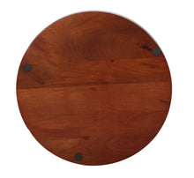 Load image into Gallery viewer, Crayton Dark Brown Mango Wood Round Serving Tray