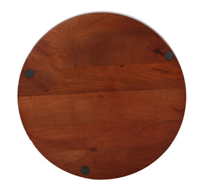 Crayton Dark Brown Mango Wood Round Serving Tray