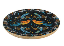 Load image into Gallery viewer, Birds Round Mango Wood Serving Tray