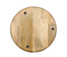 Load image into Gallery viewer, Crayton Geometric Round Mango Wood Serving Tray