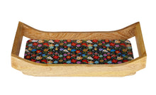 Load image into Gallery viewer, Crayton Floral Rectangular Mango Wood Serving Tray of 2 (Small, Large)