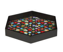 Load image into Gallery viewer, Crayton Floral MDF Large Hexagon Serving Tray