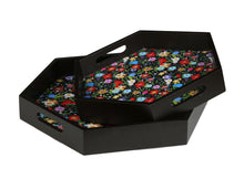 Load image into Gallery viewer, Crayton Floral MDF Hexagon Serving Tray Set of 2
