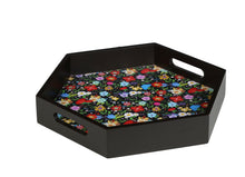 Load image into Gallery viewer, Crayton Floral MDF Small Hexagon Serving Tray