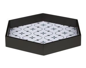 Crayton Star MDF Large Hexagon Serving Tray