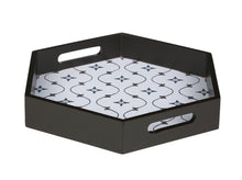 Load image into Gallery viewer, Crayton Star MDF Hexagon Serving Tray Set of 2