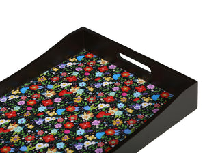 Crayton Floral MDF Large Rectangular Serving Tray