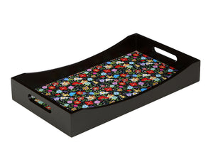 Crayton Floral MDF Rectangular Serving Tray Set of 3