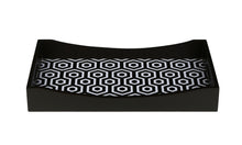 Load image into Gallery viewer, Crayton Black & White MDF Rectangular Serving Tray Set