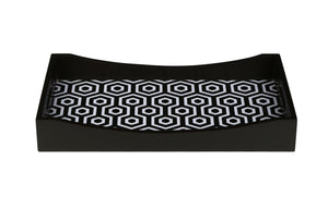 Crayton Black & White MDF Rectangular Serving Tray Set