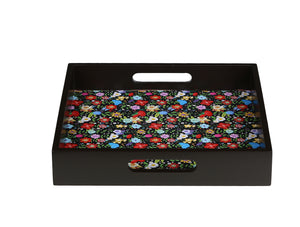 Crayton Floral MDF Square Serving Tray Set of 2