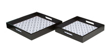 Load image into Gallery viewer, Crayton Star MDF Square Serving Tray Set of 2
