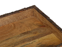 Load image into Gallery viewer, Crayton Rough Edge Border Mango Wood Large Serving Tray