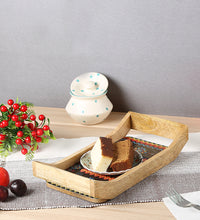 Load image into Gallery viewer, Crayton Geometric Rectangular Mango Wood Small Serving Tray