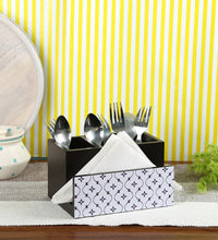 Load image into Gallery viewer, Crayton Star MDF Tissue + Cutlery Holder