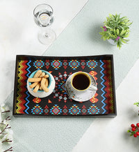 Load image into Gallery viewer, Crayton Geometric MDF Large Rectangular Serving Tray