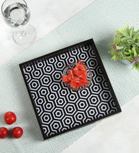 Load image into Gallery viewer, Crayton Black and White MDF Small Square Serving Tray