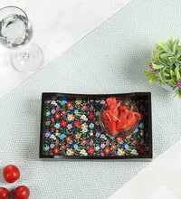 Load image into Gallery viewer, Crayton Floral MDF Small Rectangular Serving Tray