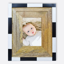 Load image into Gallery viewer, Crayton Resin Black and White Wooden Frame