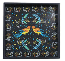 Load image into Gallery viewer, Crayton Birds MDF Square Serving Tray Set of 2