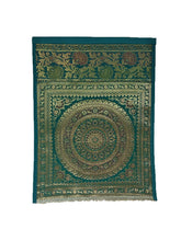 Load image into Gallery viewer, Crayton Green Mandala Multi Purpose Silk Wall Hanging Magazine Organiser (Single Pocket)