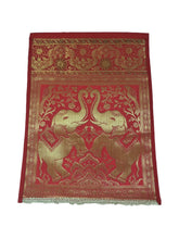 Load image into Gallery viewer, Crayton Red Elephant Multi Purpose Silk Wall Hanging  Magazine Organiser (Single Pocket)