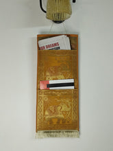 Load image into Gallery viewer, Crayton Yellow Elephant Multi Purpose Silk Wall Hanging Magazine Organiser (2 pockets)