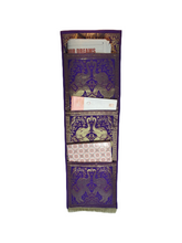 Load image into Gallery viewer, Crayton Purple Elephant Multi Purpose Silk Wall Hanging Magazine Organiser (3 pockets)