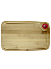 Load image into Gallery viewer, Crayton Corner Round Handle Bamboo Wood Chopping Board