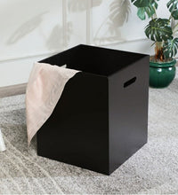 Load image into Gallery viewer, Crayton Dark Brown Laundry Box/ Organiser