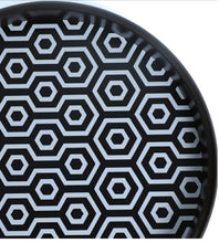 Load image into Gallery viewer, Crayton Black & White Round MDF Wall Hanging Set