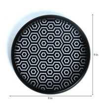 Load image into Gallery viewer, Crayton Black & White Round MDF Wall Hanging