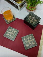 Load image into Gallery viewer, Crayton Square Green Mughal Art MDF Coaster