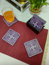 Load image into Gallery viewer, Crayton Square Purple Mughal Art MDF Coaster