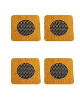 Load image into Gallery viewer, Crayton Square Mesh Pattern Bamboo Trivet